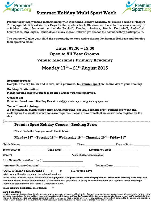 Letters  Moorlands Church Of England Primary Academy  Page