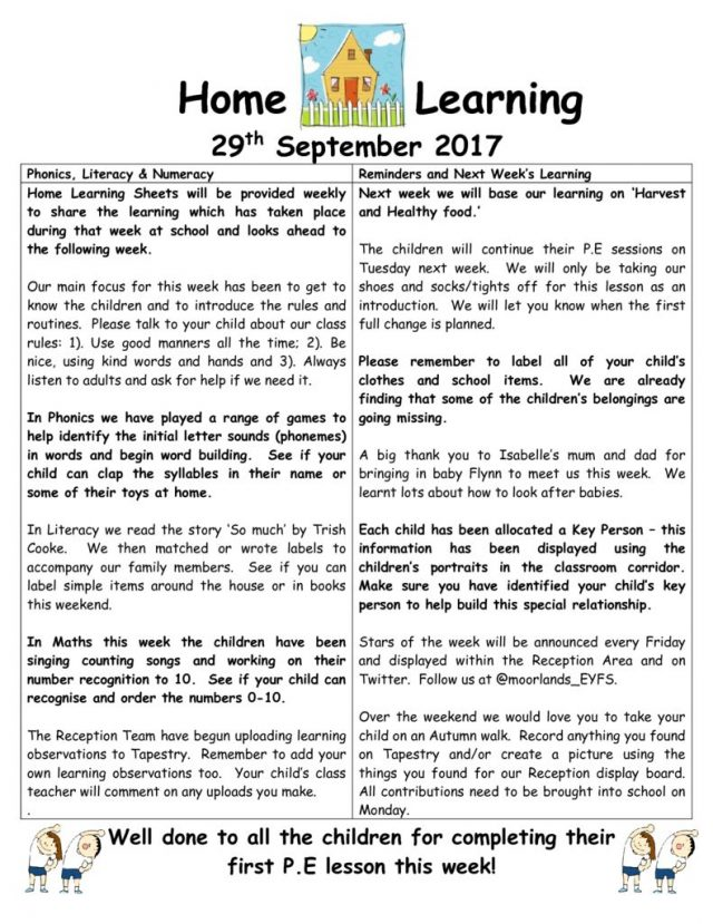 thumbnail of Home Learning 29.09.2017