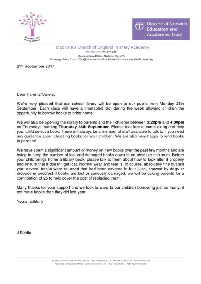 Letters | Moorlands Church of England Primary Academy | Page 6