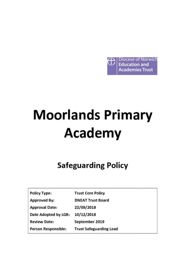 thumbnail of Safeguarding Policy 2018